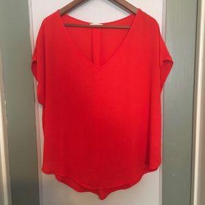 Lush Orange dressy Top- women's Size XL